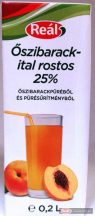 Reál Oszibarackital 25% 0,2l gyümölcslé dobozos